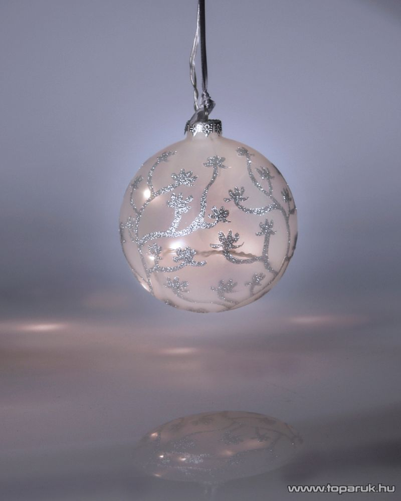Design Dekor KST 939 Beltéri matt világító üveggömb, fehér - készlethiány