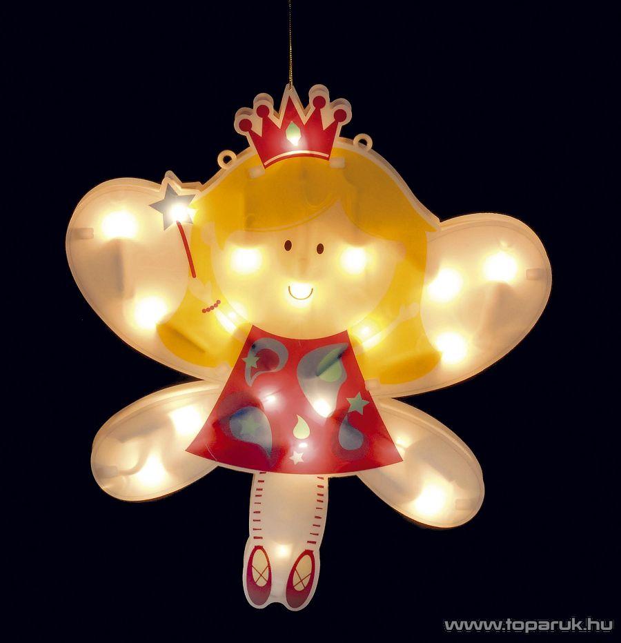 Design Dekor KTC 022A Beltéri világító ablakdísz, angyal - készlethiány