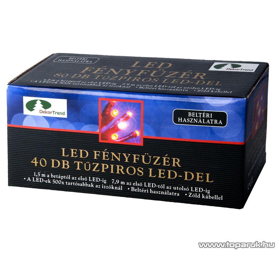 Design Dekor KTC 044 Beltéri LED fényfüzér, 3,9 m, piros - készlethiány