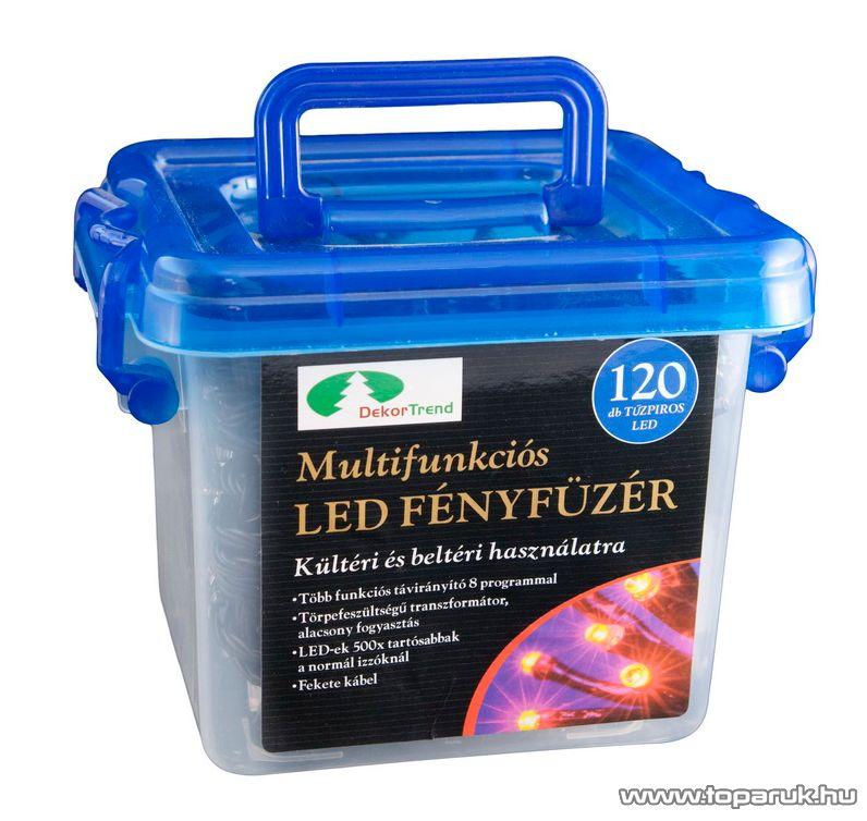 Design Dekor KTC 065 Kültéri LED fényfüzér, 8 funkciós vezérlővel, 5,9 m, multi színes