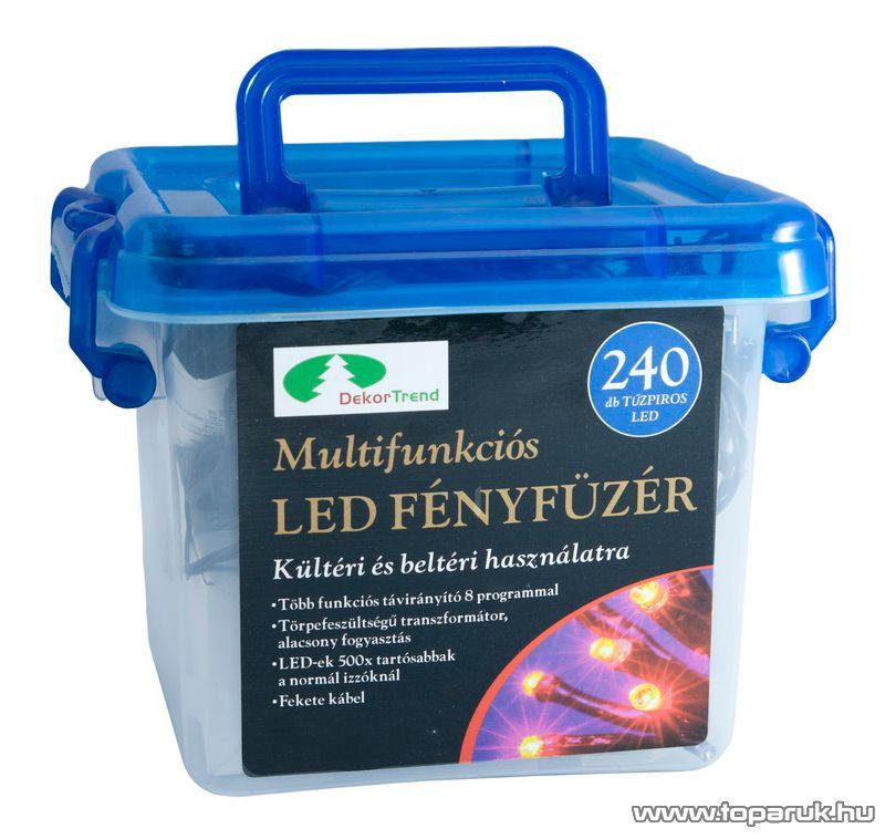Design Dekor KTC 076 Kültéri LED fényfüzér, 8 funkciós vezérlővel, 11,95 m, hidegfehér