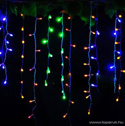 NORTEX KMN 007/C Drape Lite beltéri toldható fényfüggöny, 200 x 130 cm, 144 db színes égővel (KMN 023)