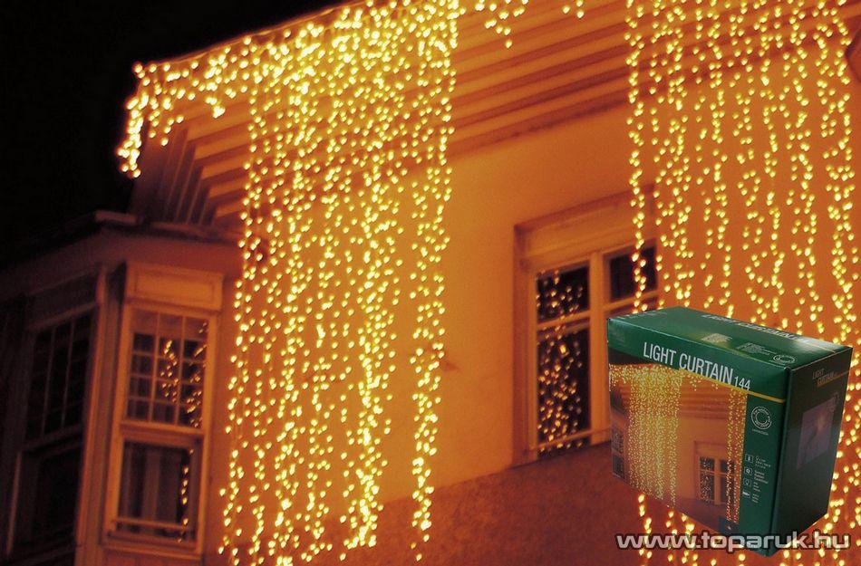NORTEX KMN 020 Kültéri toldható micro égős fényfüggöny, 200 x 140 cm, 144 db meleg fehér égővel - készlethiány