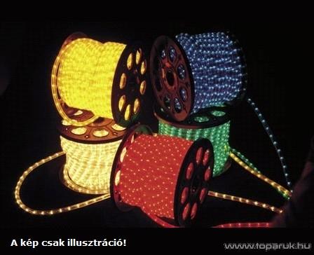 ROMAN TWISTED KMF 015 Vágható RS fénytömlő, 45 m-es, 13 mm, piros