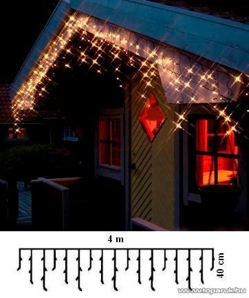 SERIE LED KST 676 Kültéri LED-es jégcsapfüzér, 400 x 40 cm, 192 db meleg fehér LED-del - készlethiány