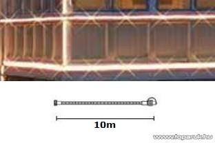 SYSTEM EXPO KSE 180 Kültéri toldható micro égős fénycső füzér betápkábel nélkül EXTRA, 10m, fehér - készlethiány