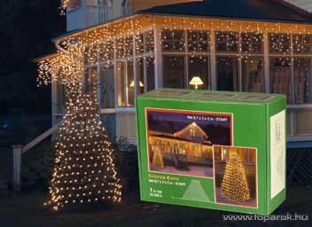 SYSTEM EXPO KST 133 Kültéri micro égős világító gúla dekoráció EXTRA, 0,7x3x2m, fehér