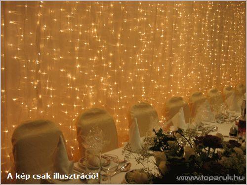 SYSTEM LED KST 058 Kültéri toldható LED-es fényfüggöny EXTRA, 1x2m, fehér