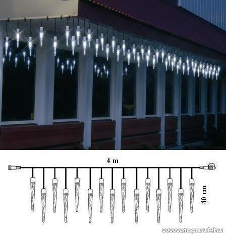 SYSTEM LED KST 568 Kültéri toldható LED-es jégcsapfüzér EXTRA, 4x04m, sárga - készlethiány