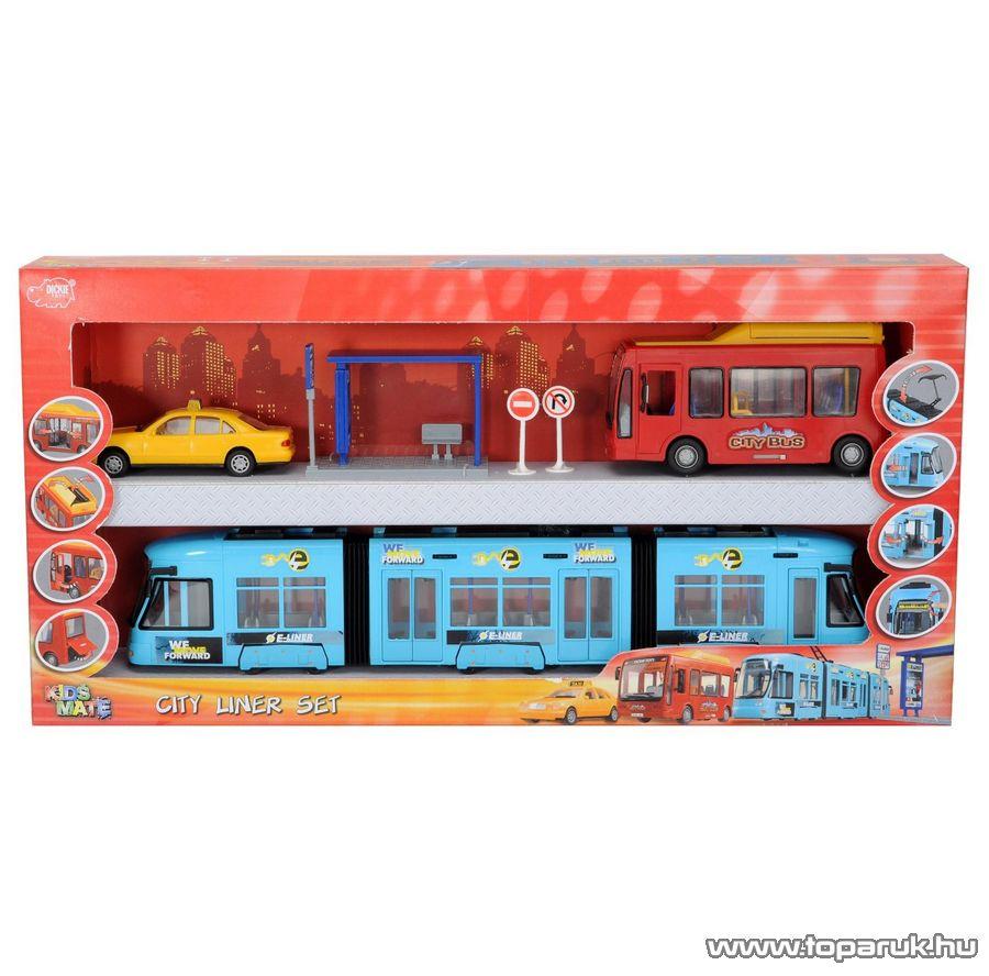 Dickie City Liner városi jármű szett (203314283) - Megszűnt termék: 2014. Október