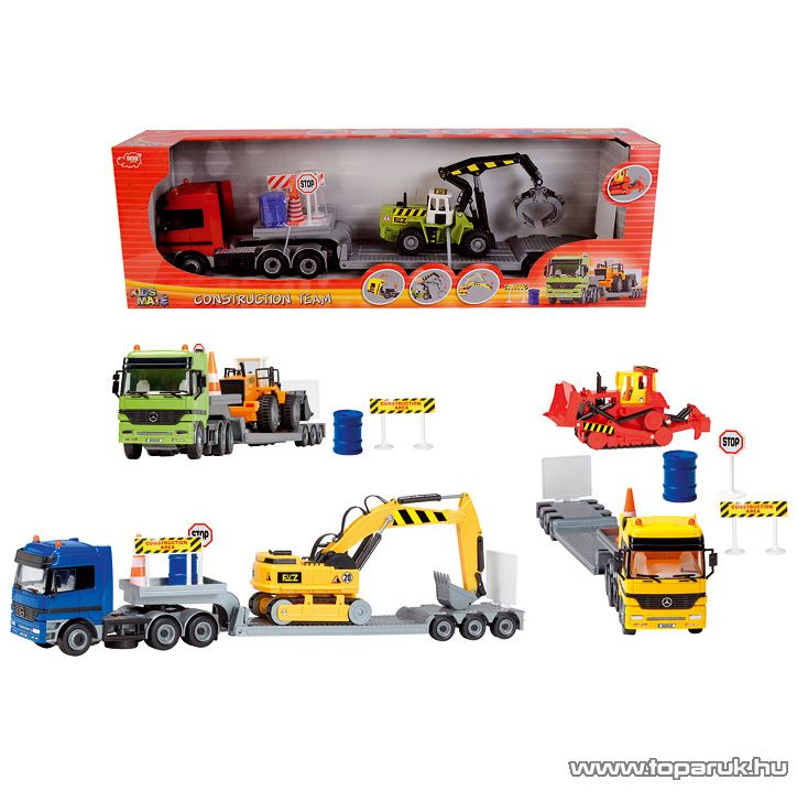 Dickie Construction Team kamion munkagéppel, 2 féle (203414805) - Megszűnt termék: 2016. November