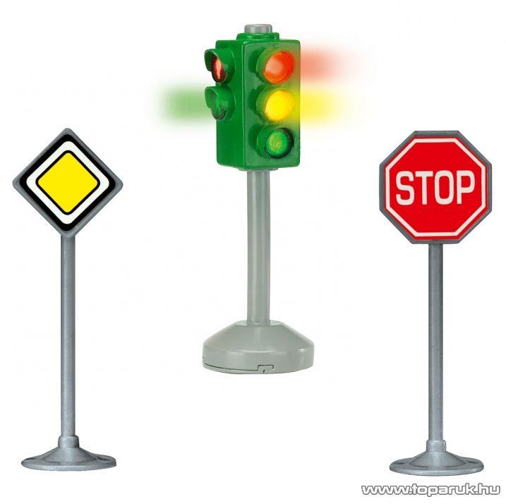 Dickie City Light Közlekedési lámpa táblákkal (203341000) - Megszűnt termék: 2016. Február