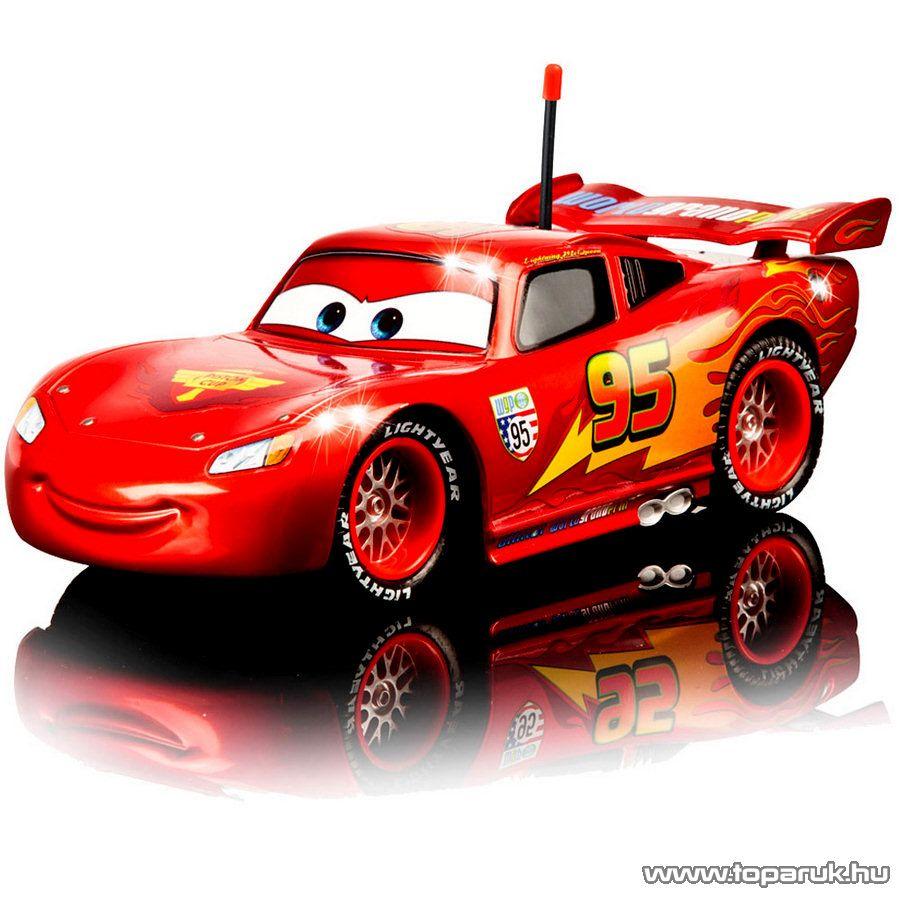 Dickie RC Verdák Villám McQueen távirányítós autó metál fényezéssel, 1:24 (203089538) - Megszűnt termék: 2015. November