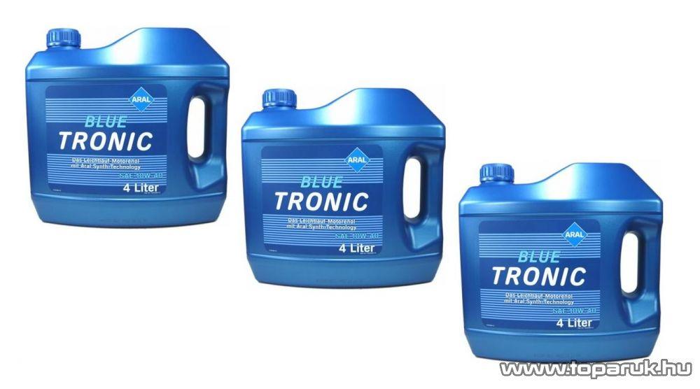 ARAL Blue Tronic 10W40 Ásványolajbázisú szintetikus motorolaj 3x4 liter, benzines és diesel autókhoz