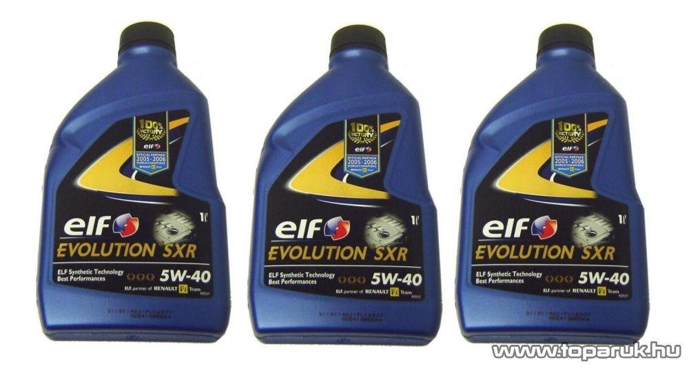 ELF 5W40 Evolution SXR (Excellium LDX) Renault gyári motorolaj 3x1 liter