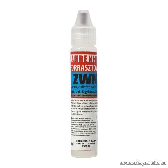 Fahrenheit Ecsetfejes forrasztóvíz, ZWN, 25 ml (17070) - megszűnt termék: 2015. július