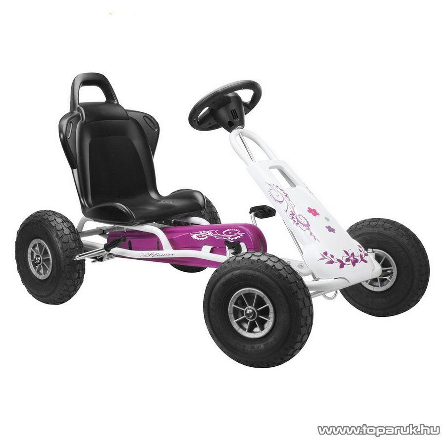 Ferbedo Air Runner fehér-rózsaszín gyermek gokart (5717) - készlethiány
