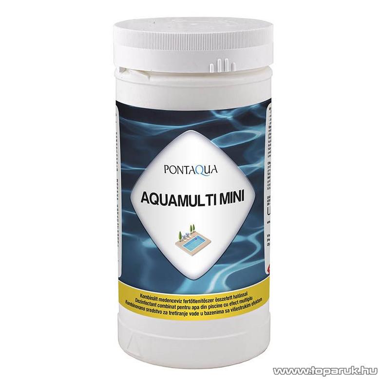 PoolTrend / PontAqua AQUAMULTI MINI kombinált medence klórozó, algaölő, pelyhesítő vízkezelő szer, 1 kg (50 db tabletta)