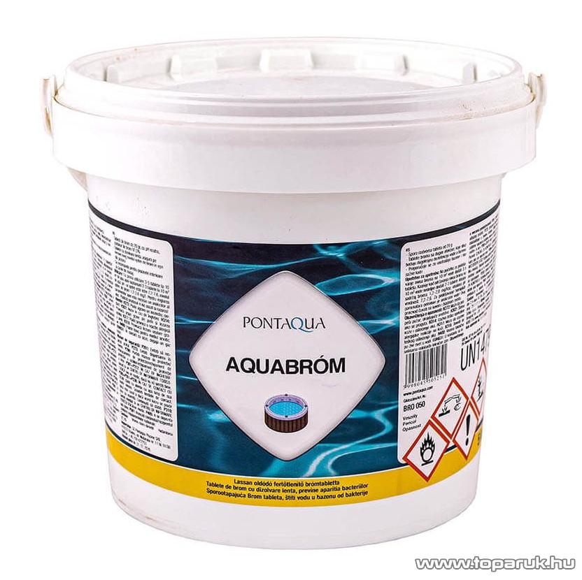 PoolTrend / PontAqua AQUABROM baktériumok, algák elleni tabletta, 5 kg (250 db tabletta)