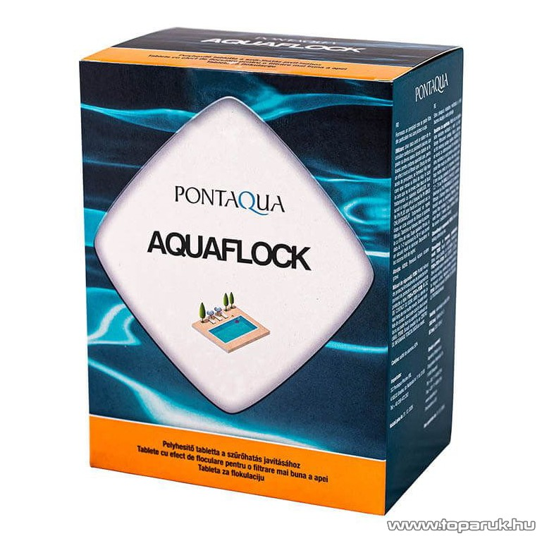 PoolTrend / PontAqua AQUAFLOCK magas koncentrációjú pelyhesítő tabletták textiltasakban, 8 tasak / doboz