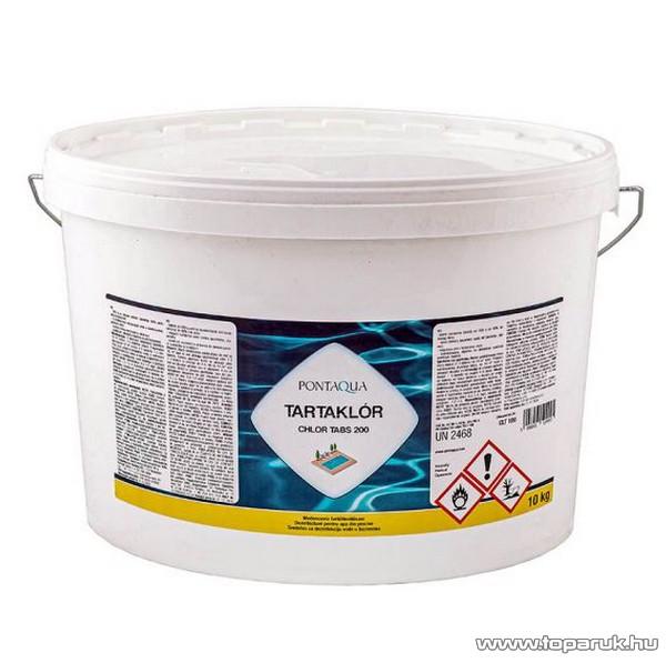PoolTrend / PontAqua CHLOR TABS 200 (tartaklór) medence fertőtlenítő tabletta, klóros, 10 kg (50 db tabletta)