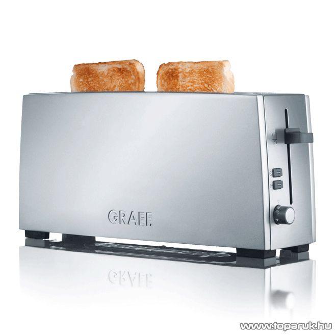 Graef TO90EU 2 szeletes inox hosszúkás kenyérpirító