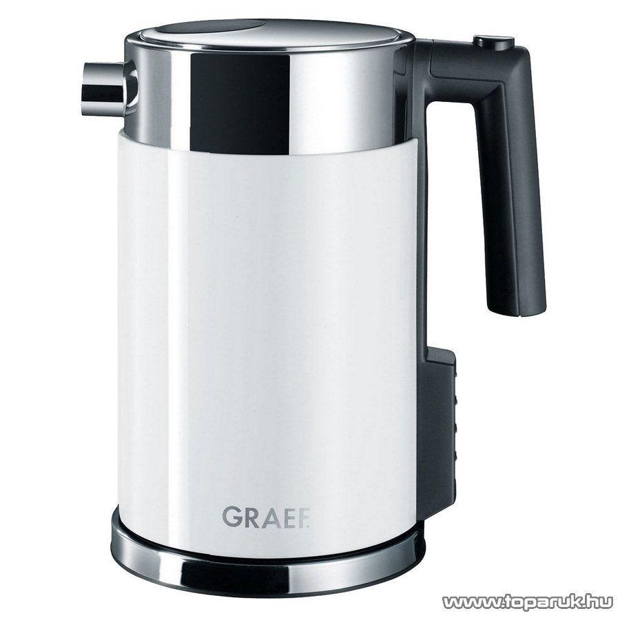 Graef WK701 1,5 literes inox vízforraló, fehér