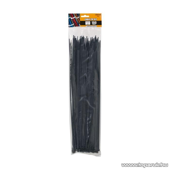 Handy Vezetékkötegelő, 390x4,6mm, fekete, 100 db / csomag (05423)