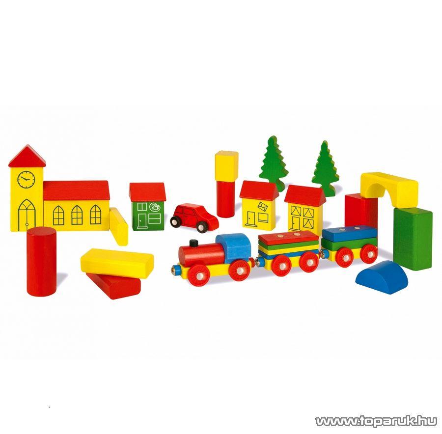 Heros 32 darabos combi box, színes fa építőkockák (100027181)