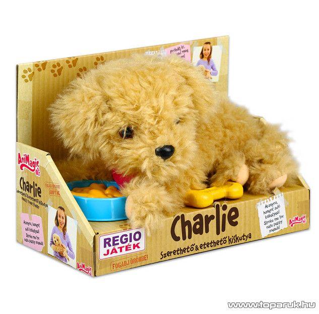 Animagic Charlie interaktív kutyus, interaktív plüss kutya