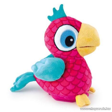 Penny a beszélő papagáj, interaktív plüss papagáj kalitkában