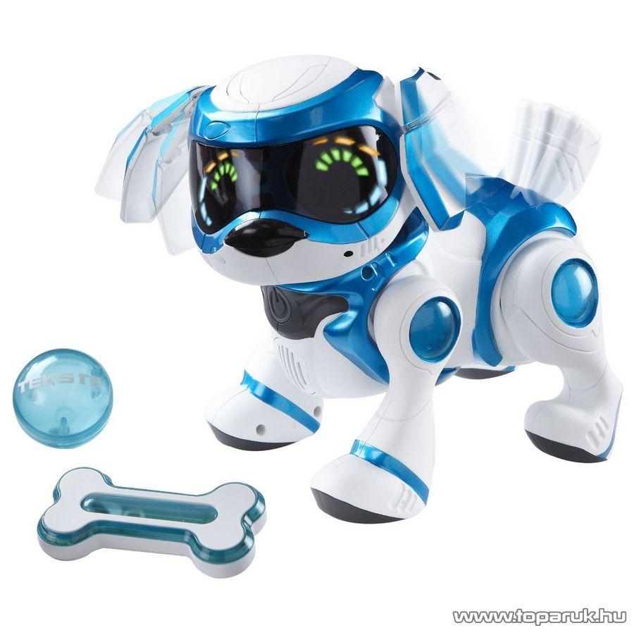 TEKSTA Robot kutyus, interaktív játék kutya, kék