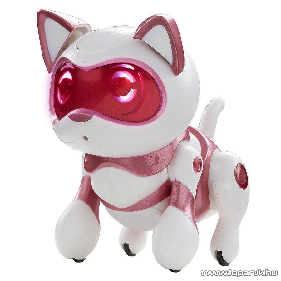 TEKSTA Újszülött (mini) robot cica, interaktív játék Kitty macska