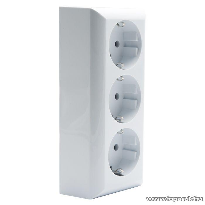 Falon kívüli beltéri 3-as dugalj földelt, fehér, 230V, 50Hz, 16A (05912)