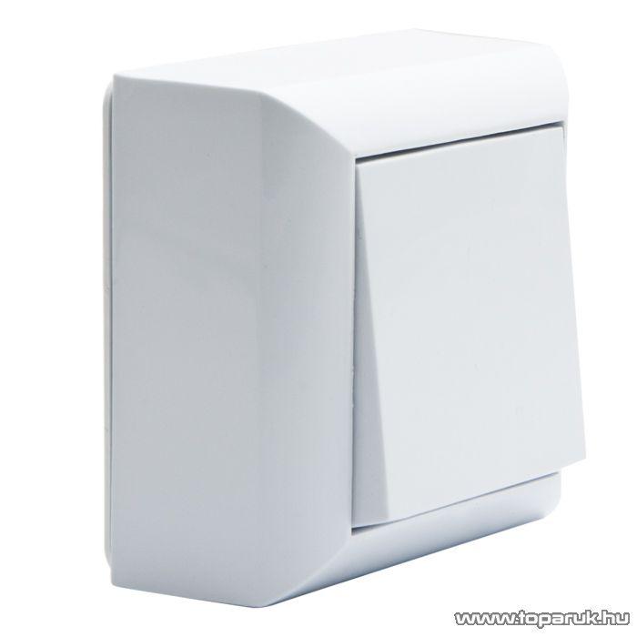 Falon kívüli beltéri nyomókapcsoló, fehér, 230V, 50Hz, 10A (05917)