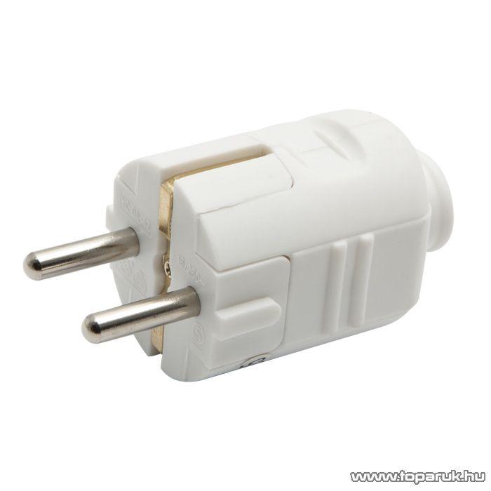 Hálózati lengő dugó, 230V, 50Hz, 16A, fehér (05935)