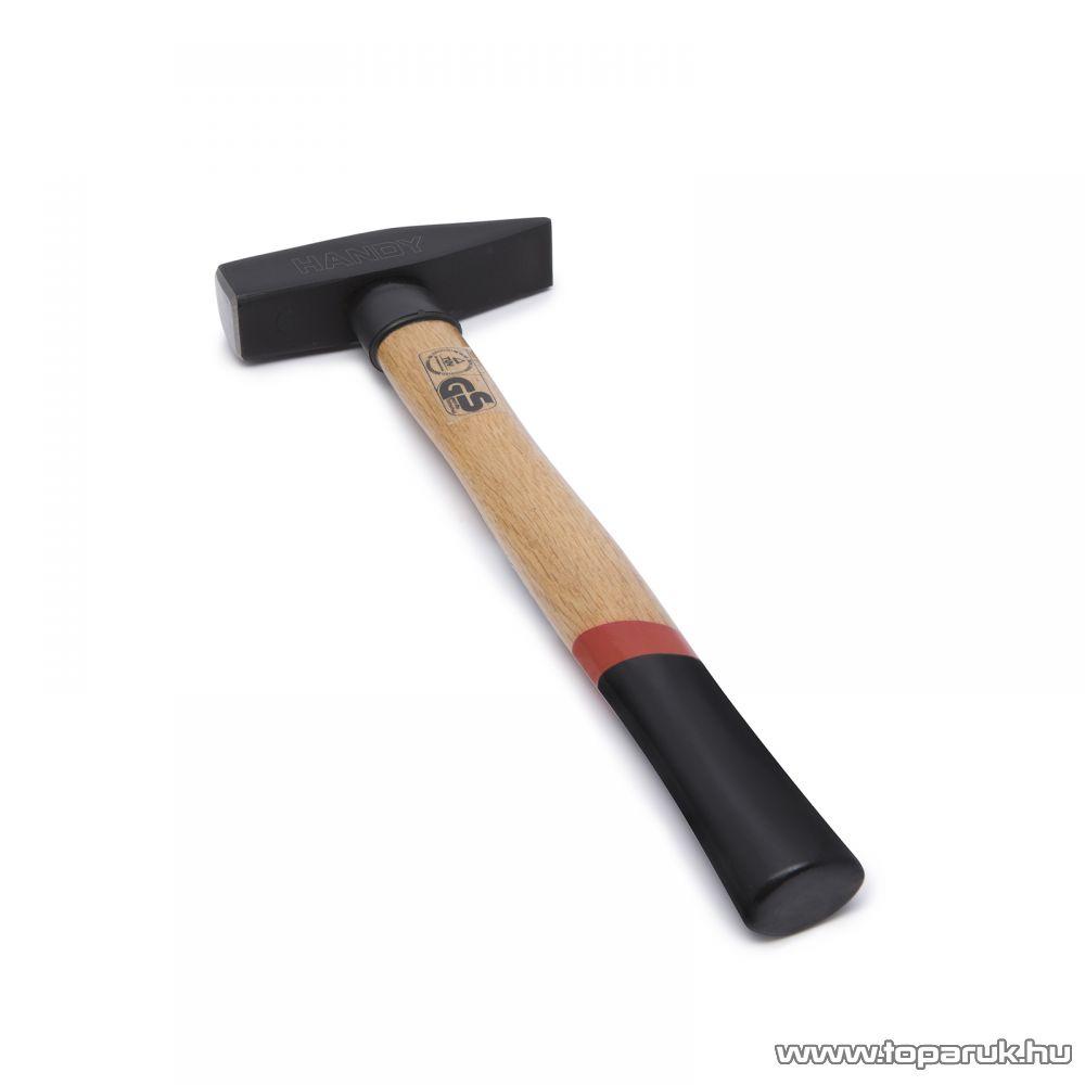 Handy Kovácsolt, nagy teherbírású kalapács csúszásmentes, ergonomikus keményfa nyéllel, 0,8 kg (10419)