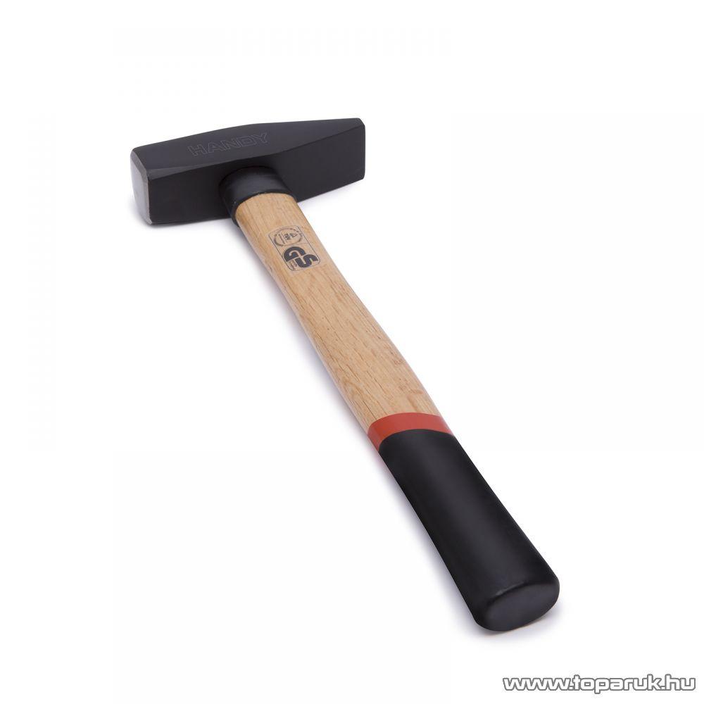 Handy Kovácsolt, nagy teherbírású kalapács csúszásmentes, ergonomikus keményfa nyéllel, 1 kg (10421)