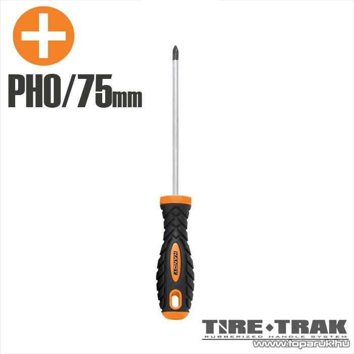 Handy TIRE TRAK gumírozott nyelű csavarhúzó, PH0 (10522)