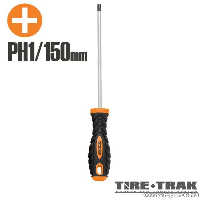 Handy TIRE TRAK gumírozott nyelű csavarhúzó, PH1 (10524)