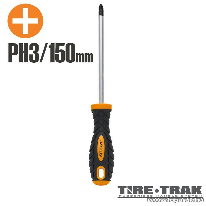 Handy TIRE TRAK gumírozott nyelű csavarhúzó, PH3 (10527)