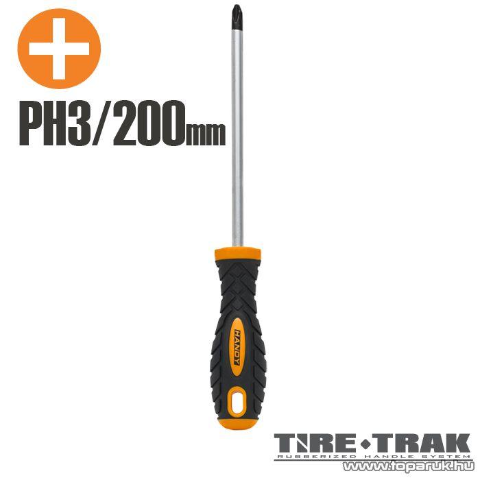 Handy TIRE TRAK gumírozott nyelű csavarhúzó, PH3 (10528)
