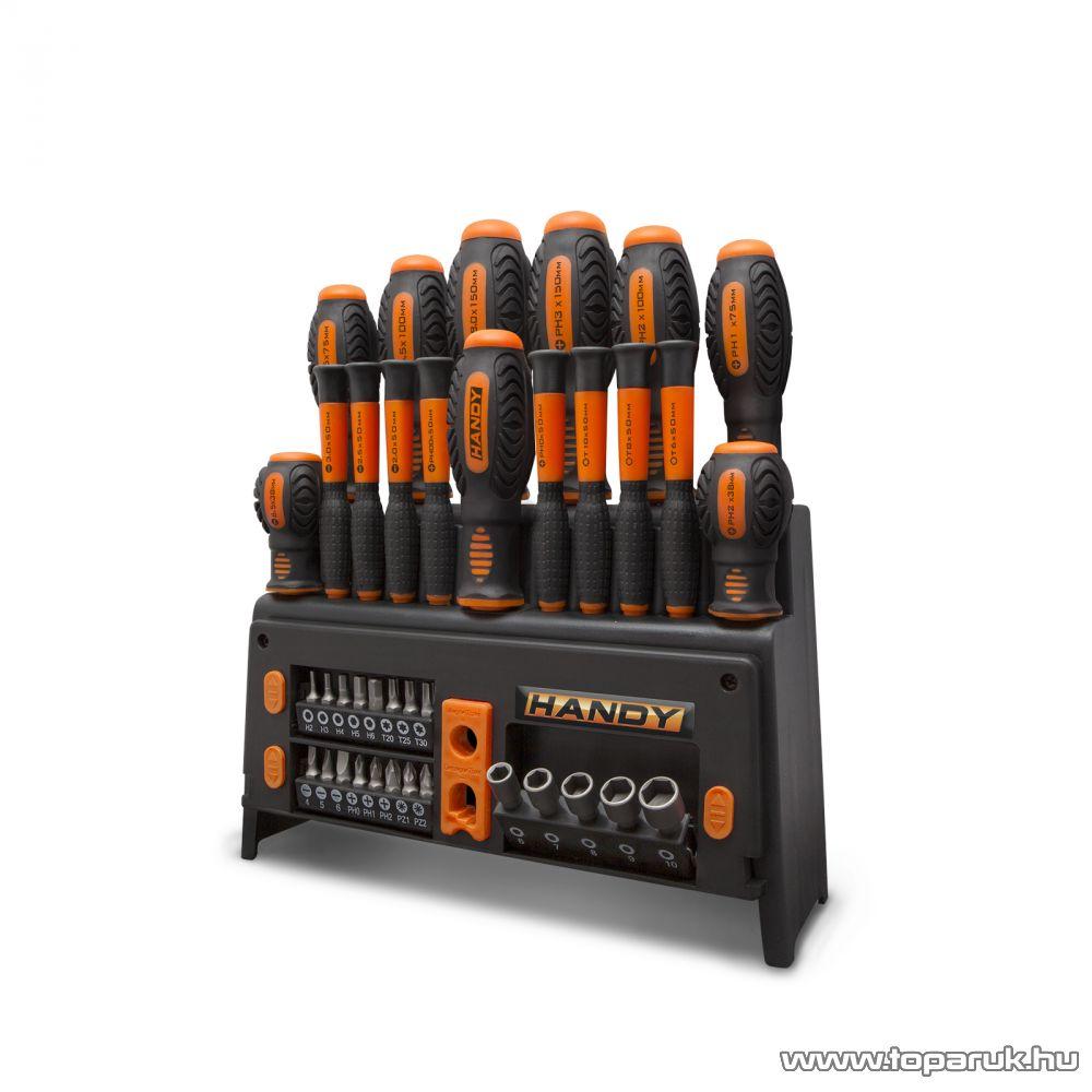 Handy 39 db-os csavarhúzó készlet állvánnyal (10741)