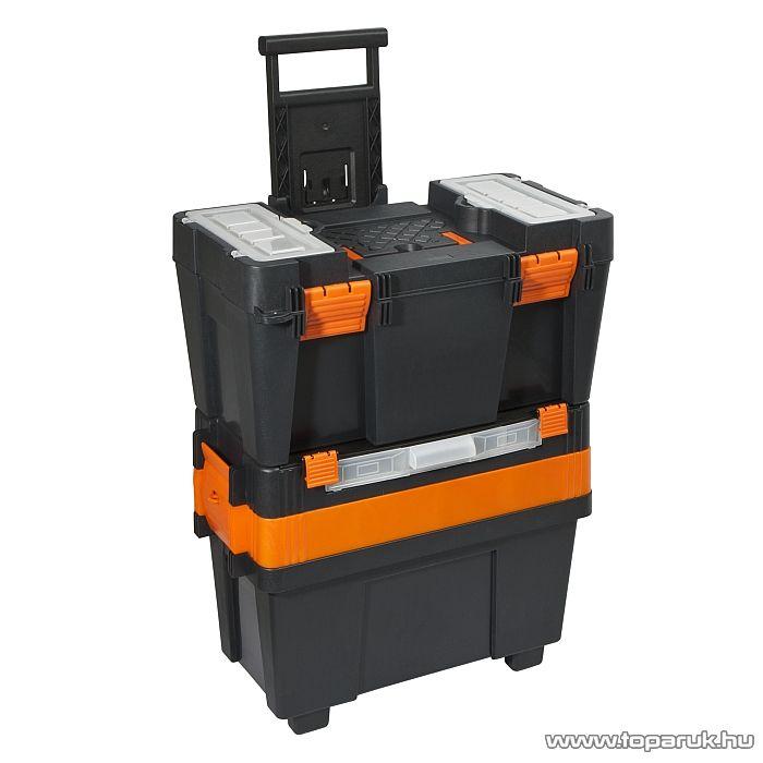 Handy Húzható, többrészes műanyag szerszámláda 490 x 340 x 800 mm (10933) - készlethiány