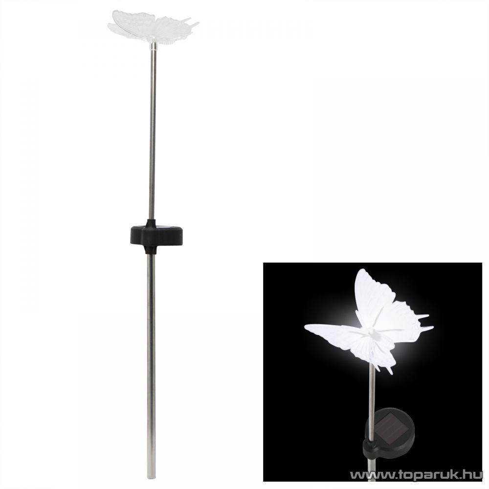LED-es napelemes kerti dekoráció, szolár lámpa, pillangó design (11393) - megszűnt termék: 2015. július