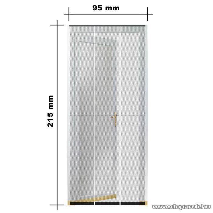 Mosható szúnyogháló függöny ajtóra, tépőzáras, 645 x 35 cm, fekete (11397) - készlethiány