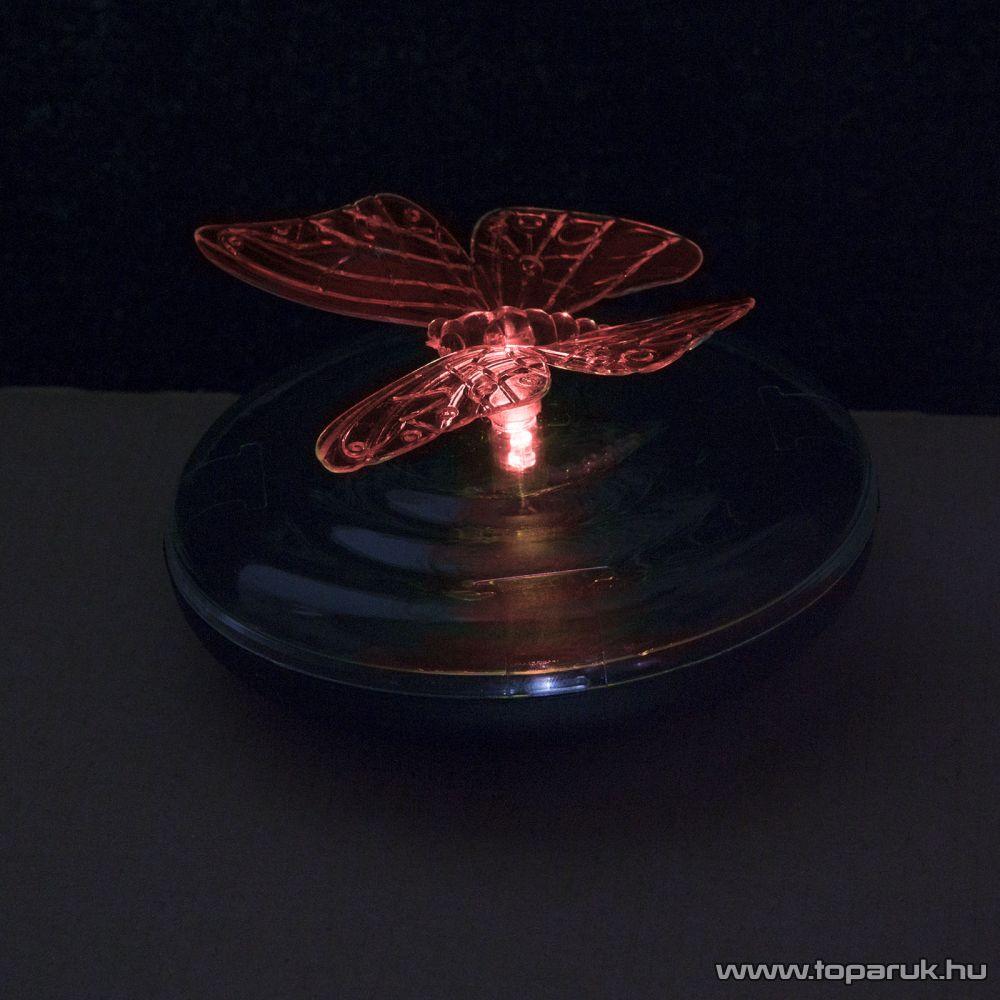 Szolár LED-es napelemes kerti tavilámpa, pillangó, 10 cm (11424)