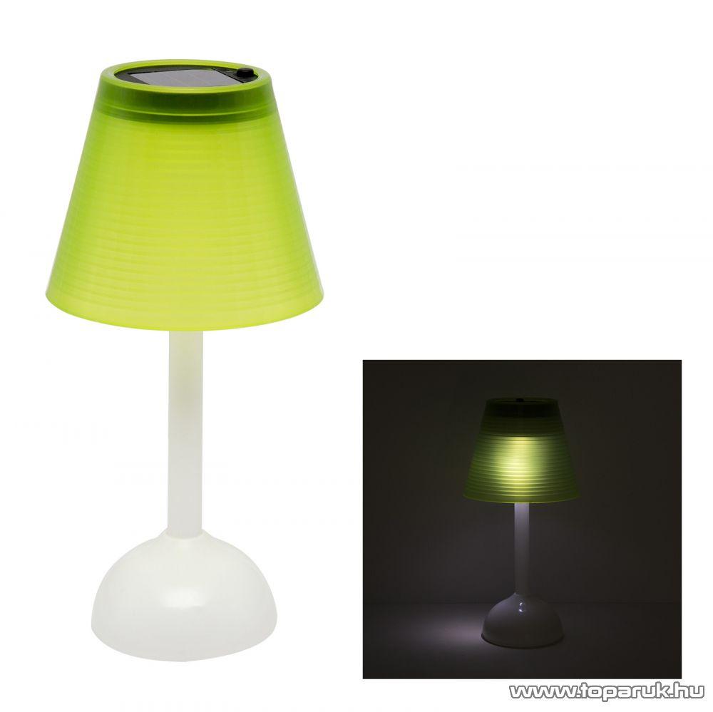 delight 11431 LED-es szolár asztali lámpa 20 cm napelemes 3 LED-del, zöld - megszűnt termék: 2016. február