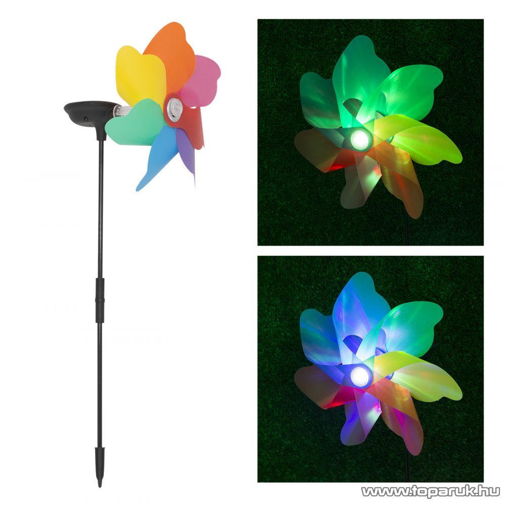 delight LED-es szolárlámpa, napelemes kerti lámpa, szélforgó, 18 cm-es (11432) - megszűnt termék: 2015. június