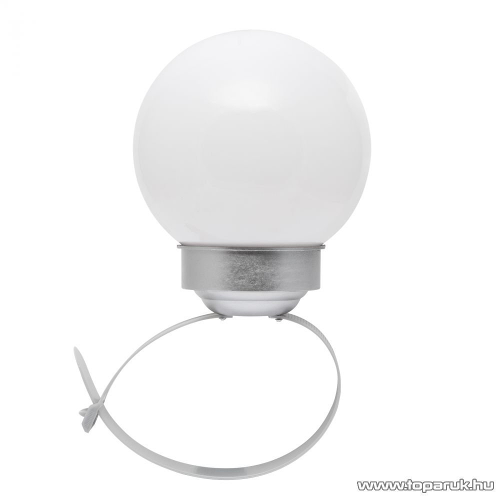 LED-es korlát és kerítés megvilágító szolár gömblámpa, 15 cm (11438)